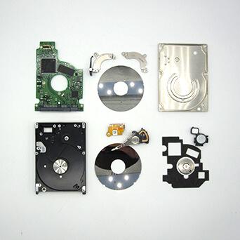 Partes de un disco duro mecánico de 2.5 pulgadas